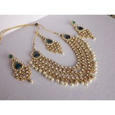 Shop Haar Style Kundan & Pearl Necklace Set by Bhamini Jewellery & Accessories online. Largest collection of Latest Necklaces online. Bridal Jewelry Sets, Bridal Accessories, Wedding Jewelry, Jewelry Accessories, Jewelry Design, Accessories Online, Bridal Jewellery, Kundan Jewellery Set, Tikka Jewelry