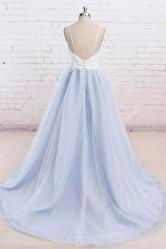 Customized Spaghetti Straps Long Dress, Sweep Train Prom Dress,Backless Sexy Evening Dress,Lavender Tulle Prom Dress sold by sharedress. Straps Prom Dresses, Backless Prom Dresses, Tulle Prom Dress, Prom Dresses Blue, Long Bridesmaid Dresses, Cheap Prom Dresses, Long Dresses, Dress Long, Maxi Dresses