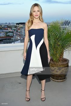 Actress Halston Sage attends Teen Vogue x Simon BTSS Kick-off Dinner on August 5, 2015 in Los Angeles, California.