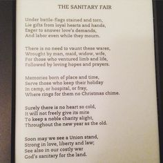 The Sanitary Fair by Louisa May Alcott #onepoemaday #LMABibliography