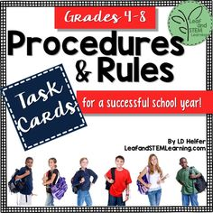 At the beginning of the school year (or even at other times) it is important to make sure that your students have a clear understanding of the expectations for rules, procedures, and behavior in your classroom. This activity is designed to go with any set of classroom rules or procedures. It can also be used with specific classroom management programs such as PBIS or CHAMPS.
