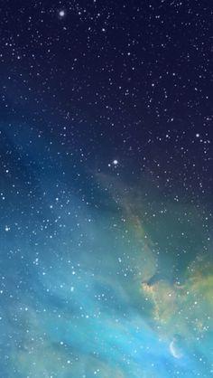 iOS 7 Galaxy Wallpaper - Starlight, star bright, Gogeshe thinks this wallpaper is beautiful tonight! #wallpaper