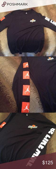 Jordan Gatorade Longsleeve Longsleeve t-shirt from the recent Jordan and Gatorade collaboration. Rare. New With Tags. Jordan Shirts Tees - Long Sleeve