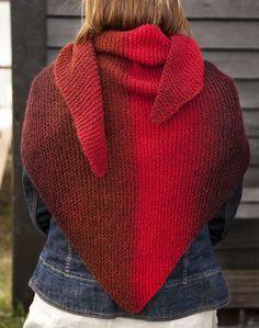 Den här sjalen stickar du snabbt och lätt i valfritt garn! Ett bra mönster även för nybörjaren.