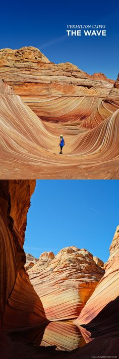 The Wave - Paria Canyon-Vermilion Cliffs Wilderness Arizona - a sandstone rock formation popular among hikers and photographers. They only allow 20 people in per day and it's by lottery // localadventurer.com