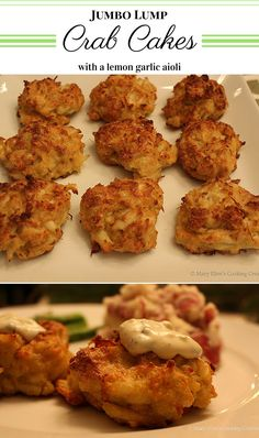 The Original Legal Seafoods Recipe - Jumbo Lump Crabcakes with my lemon garlic aioli. Baked crabcakes are easy to make and healthier than fried! Great for entertaining and they reheat well.