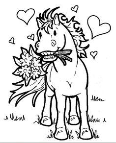 Ausmalbilder Pferde 4 | Ausmalbilder für Kinder