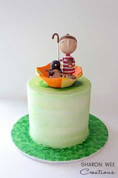 Lost & Found Oliver Jeffers Cake l by Sharon Wee Creations Cake Decorating For Beginners, Cake Decorating Supplies, Cake Decorating Tutorials, Fondant Cakes, Cupcake Cakes, Cake Cookies, Cupcakes, Sugar Decorations For Cakes, Single Tier Cake