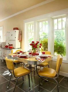 liking the table and chairs. different color tho. orange?