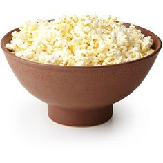 The Popcorn Bowl with Kernel Sifter | popcorn dish | UncommonGoods ($75) ❤ liked on Polyvore featuring home, kitchen & dining, serveware and popcorn bowl