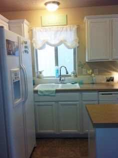 a very shabby kitchen | ... balloon curtain is from the simply shabby chic line at Target 24.99