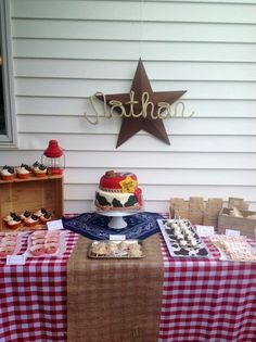 """Photo 1 of 36: Western/Cowboy / Birthday """"Nathan's 2nd Birthday"""" rope lettering"""
