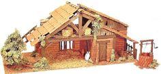 kerststal zelf maken van hout - Google zoeken