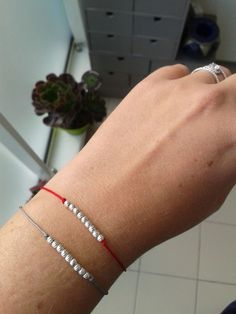 BRACELET PERLES ARGENT via Taille Princesse. Click on the image to see more!
