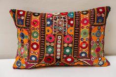 Vintage Indian Shisha Mirrorwork Pillow image 8