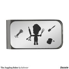 The Juggling Baker Gunmetal Finish Money Clip