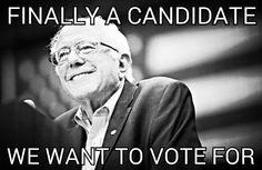 #Bernie2016 #FeelTheBern VOTE FOR BERNIE!