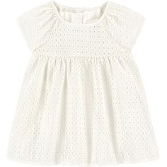 Broderie anglaise lace jumpdress Chloé (715 BRL) ❤ liked on Polyvore featuring baby girl