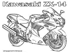 motorcycle coloring pages | Motorcycle Coloring Book Pages | Street Bikes | Free Coloring ...