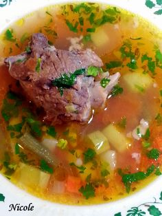 CIORBA TARANEASCA DE PORC CU LEGUME Soup Recipes, Healthy Recipes, Turkey Soup, Romanian Food, Lebanese Recipes, Russian Recipes, Diet And Nutrition, International Recipes, Soul Food