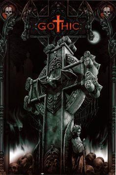 Dark Fantasy Art, Dark Gothic Art, Fantasy Kunst, Gothic Crosses, Gothic Pictures, Gothic Images, Gothic Wallpaper, Skull Wallpaper, Art Sombre