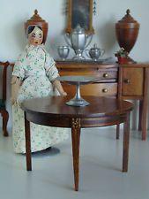 Vintage Tynietoy Doll House Miniature Sheraton Mahogany Dining Table 1920/30s