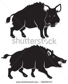 Výsledek obrázku pro wild boar drawing