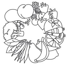 Fruit and Veggie Wreath | Urban Threads: Unique and Awesome Embroidery Designs