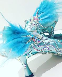 Baby blue balloon bling shoe