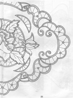 "Képtalálat a következőre: ""Haft Richelieu No. Cutwork Embroidery, Hand Embroidery Designs, Vintage Embroidery, Embroidery Stitches, Embroidery Patterns, Machine Embroidery, Stencil Patterns, Lace Patterns, Lace Painting"