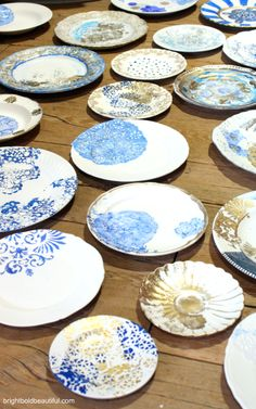 DIY projects - Holiday Plates