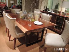 Harden live edge dining table