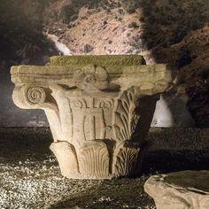 Roman Corinthian column capital from Mértola Column Capital, Portugal, Corinthian, Medieval, Lion Sculpture, Statue, Art, Art Background, Kunst