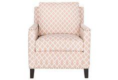 Jonah Club Chair, Light Peach/White on OneKingsLane.com
