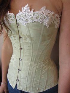 Viktorianisches Korsett Seide  Korsett Hochzeit von MaiLoanCloset