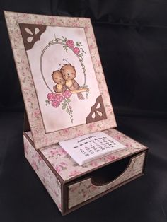 FREE FCM file available on request for this easel card with drawer