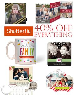 Shutterfly 40% Off Everything Plus More