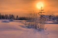 Sunset at Christmas Village, Rovaniemi, Finland by TW Astro, via Flickr