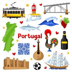 Find Portugal Icons Set Portuguese National Traditional stock images in HD and millions of other royalty-free stock photos, illustrations and vectors in the Shutterstock collection. Thousands of new, high-quality pictures added every day. World Thinking Day, World Cultures, Icon Set, Portuguese, Paper Dolls, Vector Free, Diy And Crafts, Clip Art, Symbols