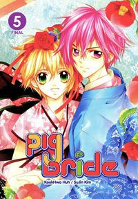 Pig Bride Manga -  he gits lost in the woods and runs into a girl waring a pig mask when he fallows her to a house in the woods and is told to marry the pig girl to attone for his familys passed sins. Now in high school he keeps dreaming about his pig bride but its just a dream right?