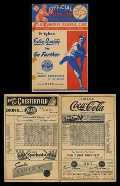 Los Angeles Angels PCL,1948 Game Program