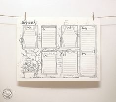 Windows in old walls covered with creepers. Here's a pretty tool to organize your weekly tasks: a perpetual weekly planner in a whimsical hand-drawn doodle style. Just print one copy for a week on y Weekly Log, Doodles, Week Planner, Old Wall, Printable Letters, Letter Size Paper, Bullet Journal Inspiration, Journal Pages, Journals