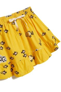39befd7b saia malha peixinho Kids Prints, Boho Shorts, Casual Shorts, Skirt, Nursery  Prints
