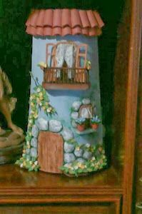 Fun Crafts, Diy And Crafts, Arts And Crafts, Clay Houses, Fabric Houses, Painted Pots, Garden Crafts, Clay Art, 3 D