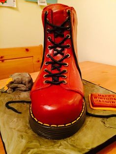 Dr Martens Boot Cake #bootcake #drmartens
