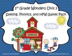 What a fun and engaging way to practice the spelling, phonics, and high frequency words from the 1st Grade Wonders Reading Series Unit 3! This pack includes 9 games that will help your students practice the phonics, spelling, and high frequency word skills for each week in a fun and engaging way.