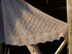 pdf pattern for the St Kilda Shawl and Scarf by Elizabeth Lovick