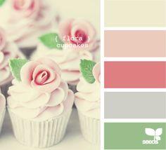 Palette:   Flora Cupcakes  (Design Seeds)