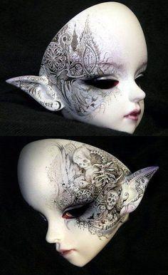 69 Trendy Ideas For Doll Face Tattoo Art Beautiful Mask, Beautiful Dolls, Ooak Dolls, Art Dolls, Coeur Tattoo, Cool Masks, Venetian Masks, Wow Art, Masks Art