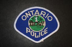 Ontario Police Patch, San Bernardino County, California